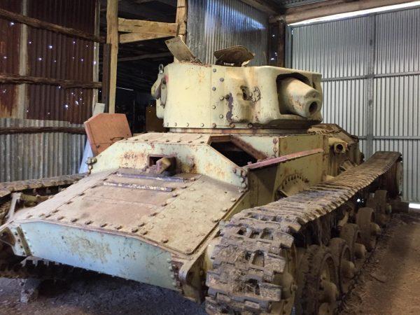Valentine Tank under restoration